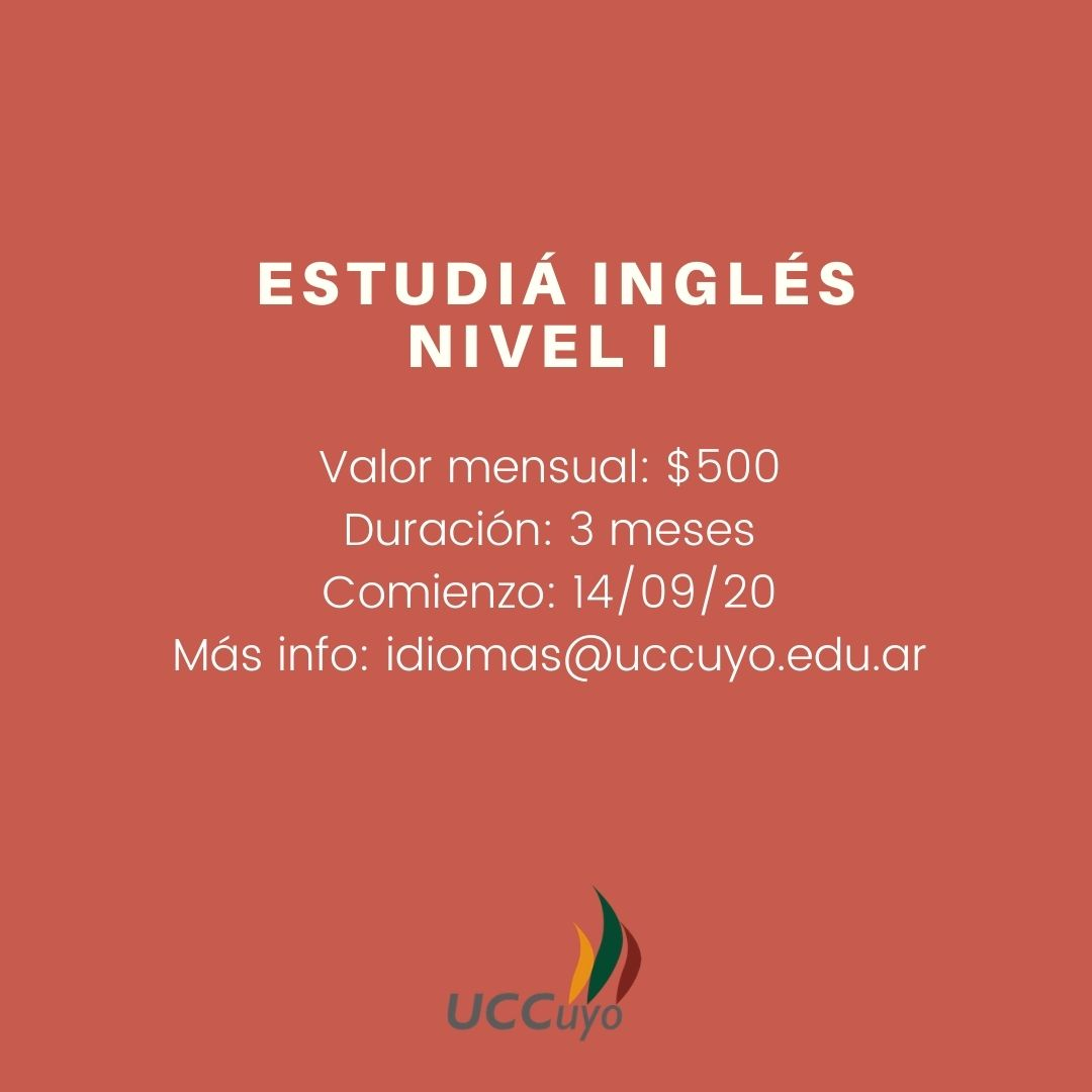 Curso virtual de Inglés Nivel I
